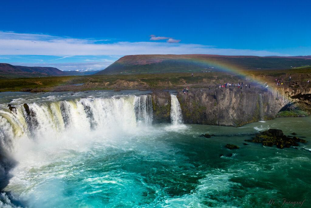 Goðafoss and Rainbow