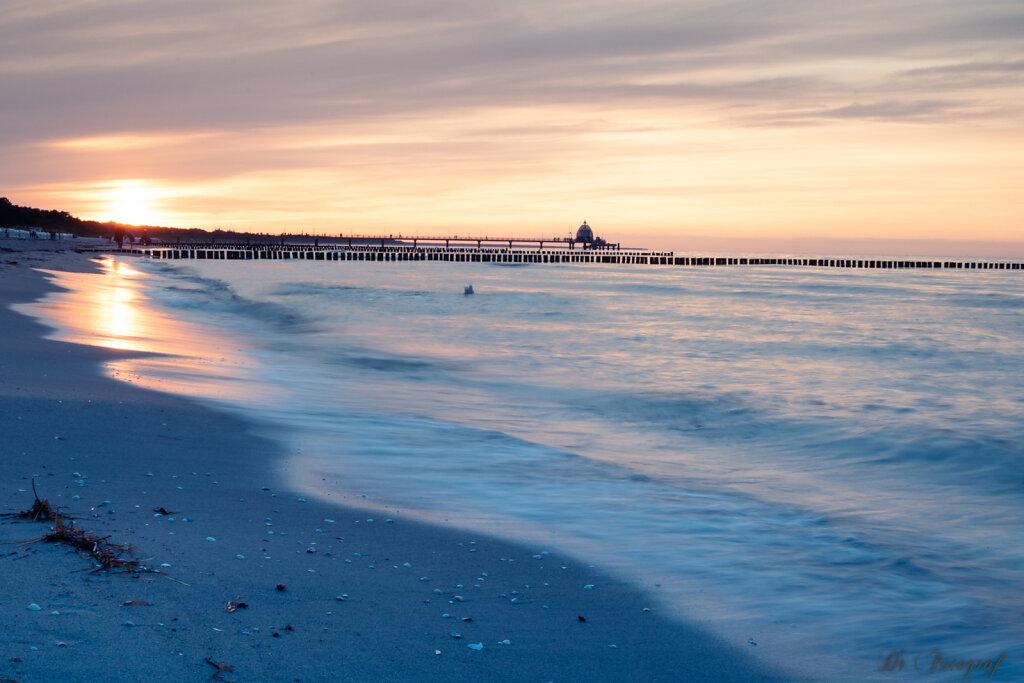 Sunset at Baltic Sea Shore